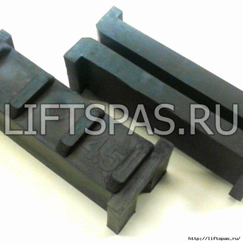 Вкладыш тип OTIS 2000 ребристая спинка L100мм T6 мм. Высота рёбер 4,5 мм