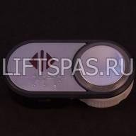 Кнопка + чиклет в сборе со шрифтом Брайля LS 120.09 BR
